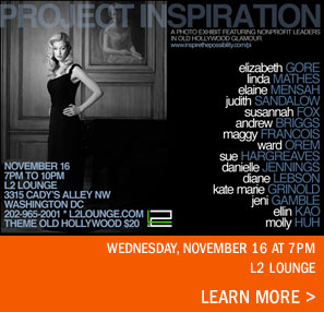 Project Inspiration November 16 7pm to 10pm L2 Lounge